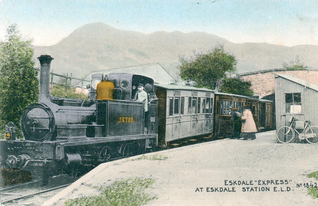 Ravengalss Eskdale Railway in 1875